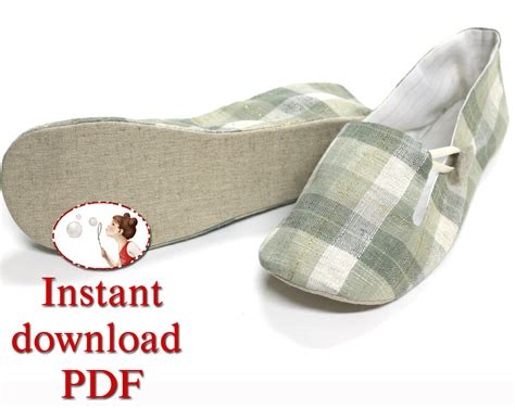 slipper sewing pattern sewing shoes pattern s loafer by lenasshoepatterns