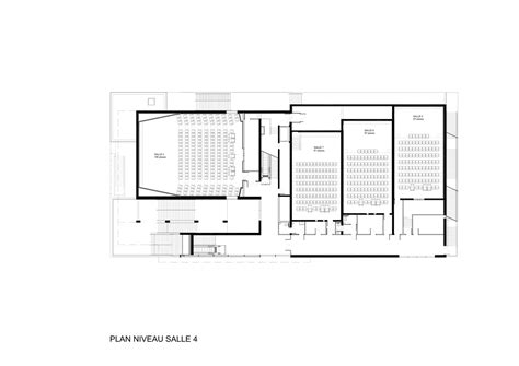 movie theater floor plans gallery of etoile lilas cinema hardel et le bihan