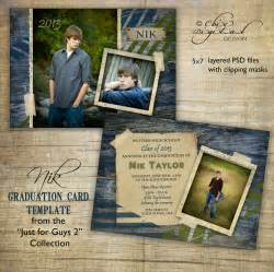 graduation announcement templates graduation announcement card template for photographers just