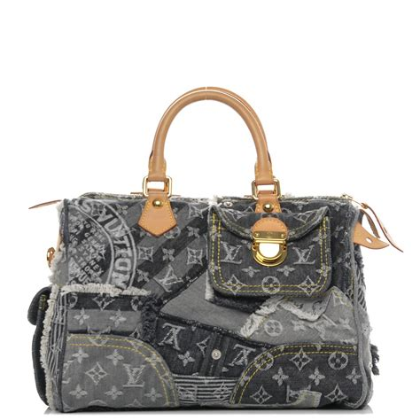 Patchwork Louis Vuitton - louis vuitton denim patchwork speedy 30 grey 185812