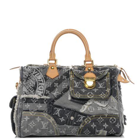 Louis Vuitton Patchwork - louis vuitton denim patchwork speedy 30 grey 185812