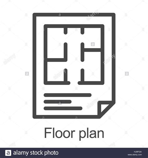 floor plan icon flat floor plan icon stock vector illustration