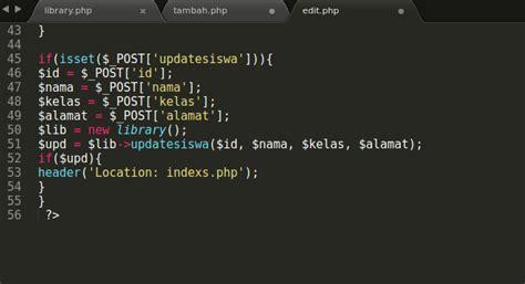 cara membuat crud dengan oop php membuat crud dengan oop pdo semi script