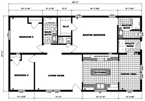 3 Bedroom Ranch Home Floor Plans by Pine Grove Homes Floorplan Detail G 1790