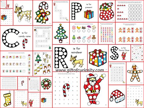 free printable christmas games for elementary students christmas do a dot printables gift of curiosity