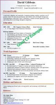 12 good cv examples for first job basic job appication