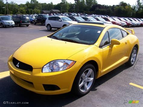 mitsubishi eclipse yellow 2009 solar satin yellow mitsubishi eclipse gs coupe