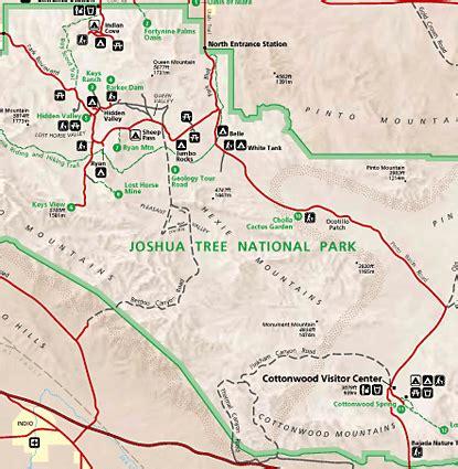 joshua tree park map joshua tree national park map map of joshua tree ca