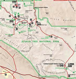 joshua tree national park map map of joshua tree ca