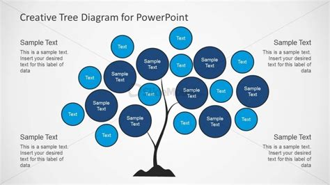 typography diagram tree chart diagram design for powerpoint slidemodel