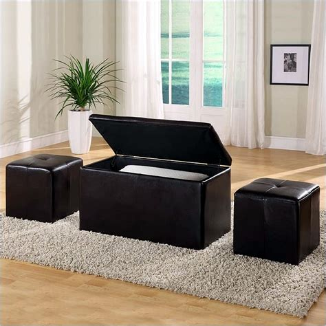 living room bench with storage modus urban seating 3 in 1 storage bench ottoman chocolate