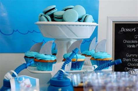 baby shark themed party kara s party ideas shark party with lots of really great