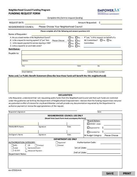 funding request form funding request form 73014 fillable