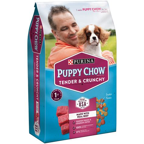 puppy chow food purina puppy chow complete puppy food 4 4 lb bag walmart