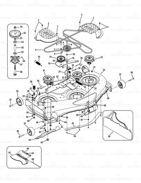 cub cadet mower deck parts diagram cub cadet ltx1050kh 13ap91ap010 13ap91ap056 13rp91ap056