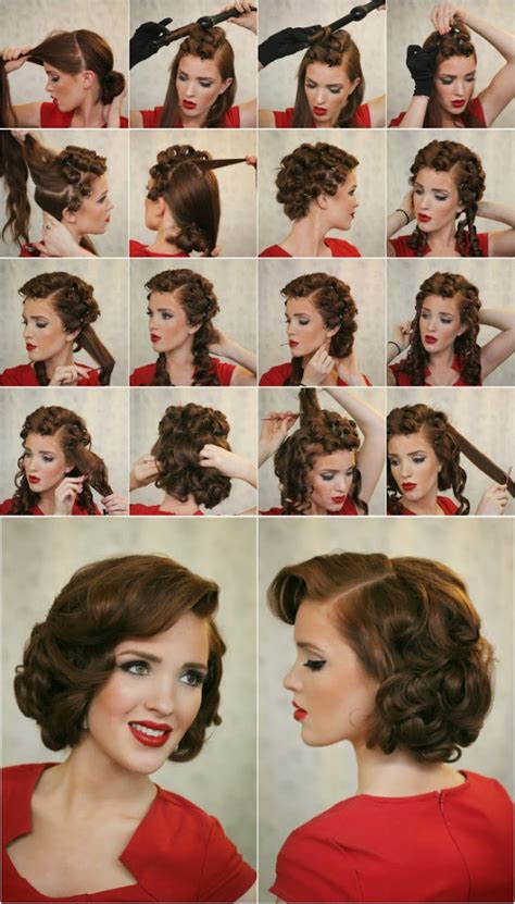 How To Do Vintage Hairstyles | 17 vintage hairstyles with tutorials for you to try