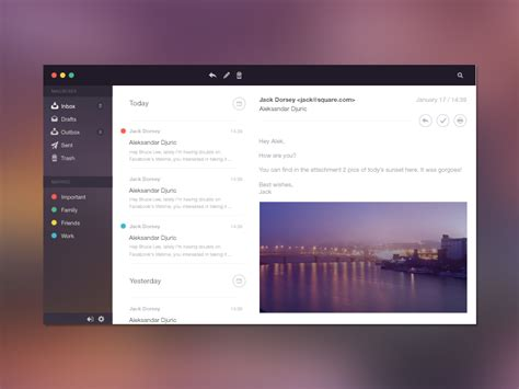 design email application email application design inspiration muzli design