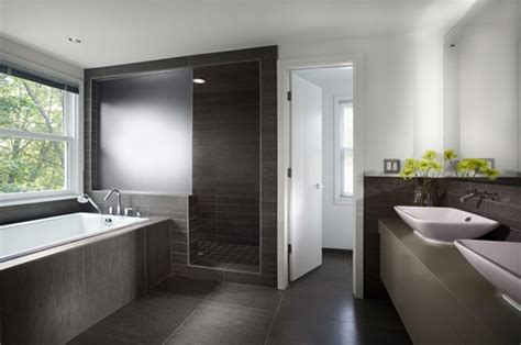 contemporary bathroom sterling carpentry