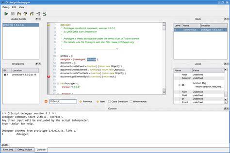 getting started programming with qt quick qt 5 10 qt script debugger manual qt script