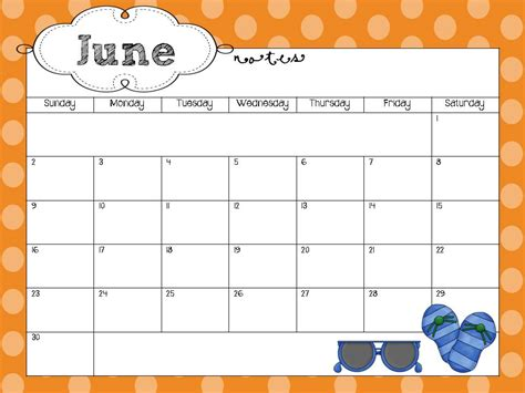 school year calendar freebie