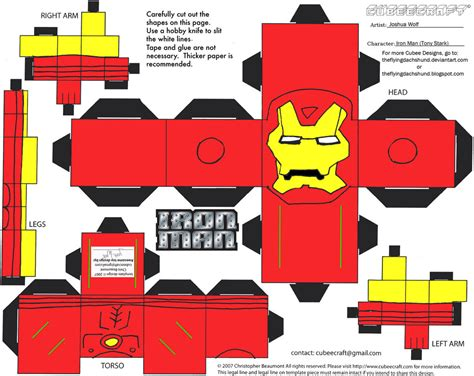 Ironman Papercraft - marvel4 iron cubee by theflyingdachshund on deviantart