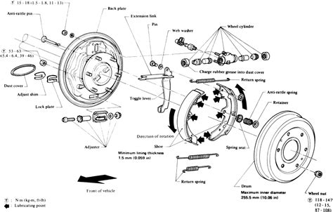 rear brake shoes diagram repair guides rear drum brakes brake shoes