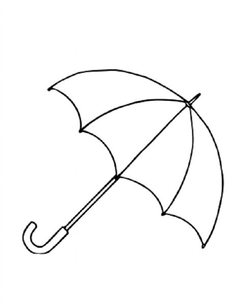 coloring pages for umbrella umbrella templates printable clipart best
