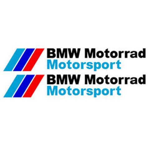 Bmw Motorrad Sticker by 2x Bmw Motorrad Motorsport Vinyl Decal Sticker 2 Sizes Ebay