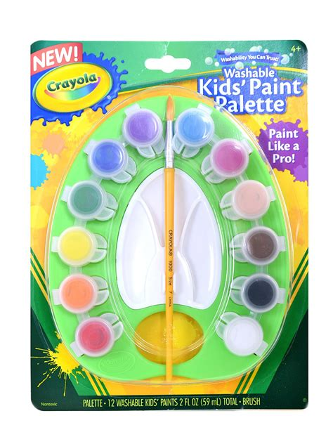 crayola washable kid s paint pot palette misterart