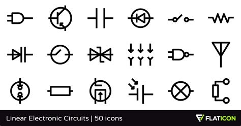 linear electronic circuits linear electronic circuits 50 free icons svg eps psd