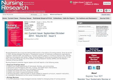 peer reviewed nursing and health care journal nursing impact factor 50 great websites for nurse managers