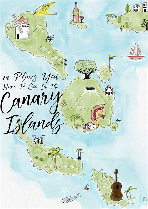map of canary islands 24 things to see and do in the canary islands