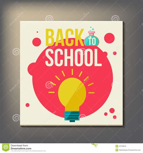 back to school design template back to school design template stock vector image 42709610