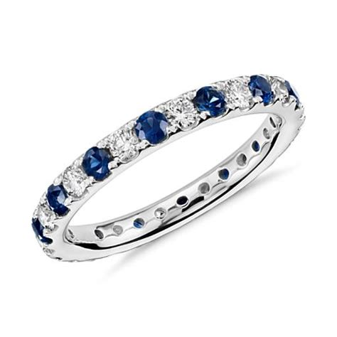 Blue Safir Sapphire 3 1ct riviera pav 233 sapphire and engagement ring in