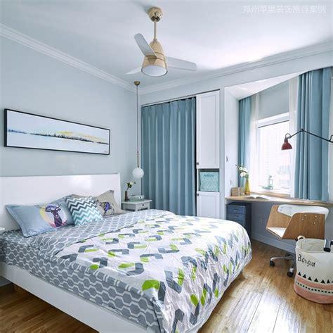 colour  curtains    light blue bedroom