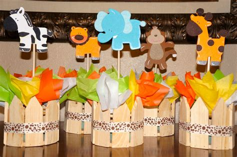 jungle safari baby shower birthday centerpieces baby