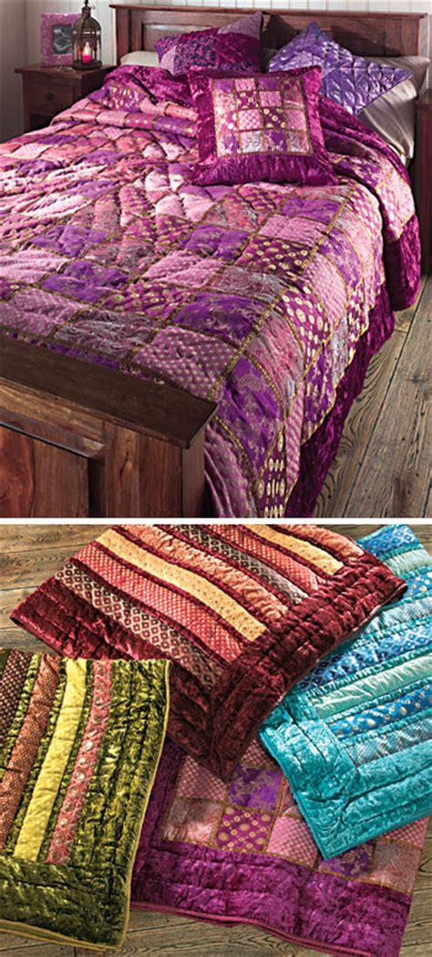 Velvet Patchwork Quilts - patchwork velvet brocade indian quilt gt velvet patchwork