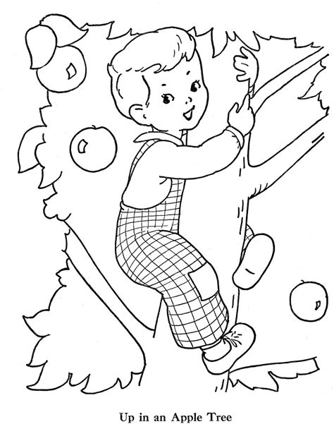 free coloring pages of apple blossom