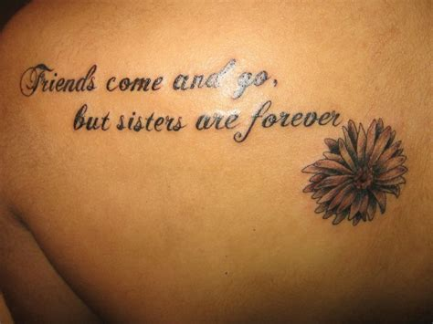 sister quote tattoos quotes quotesgram
