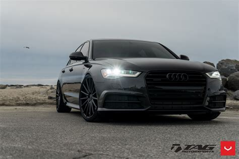 Audi Felgen Schwarz by All Black Audi A6 Quattro On Vossen Vfs2 Rims Carid