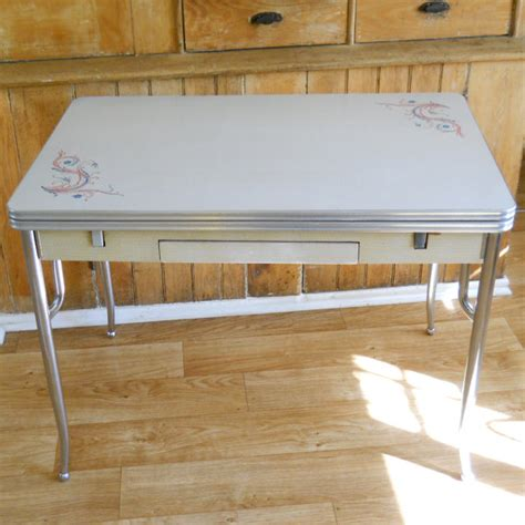 formica top kitchen tables vintage formica and chrome kitchen table side slide leaves