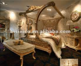 luxury european style canopy bedroom furniture set