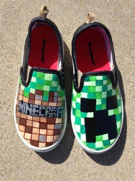diy minecraft shoes minecraft shoes etsy shop heartfeltfeet cool shoes