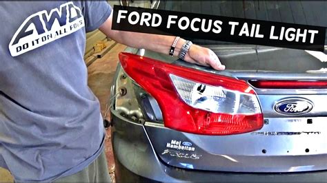 ford focus tail light cover replacement ford focus sedan rear tail light removal replacement youtube