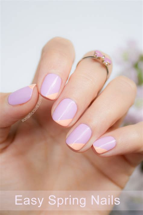 spring pattern nails easy spring nail art with kester black