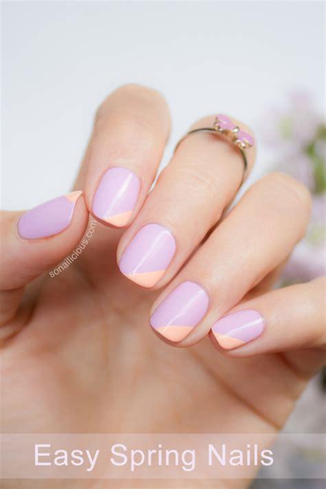 Easy Nail Art Spring | nailed it on pinterest shellac spring nail art and