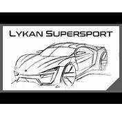 Lykan Hypersport Coloring Pages