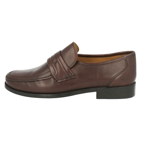 mens clarks formal shoes slip on bezel edge ebay