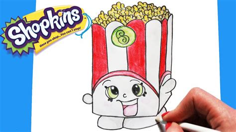 how to draw shopkins season 2 quot poppy corn quot step by step