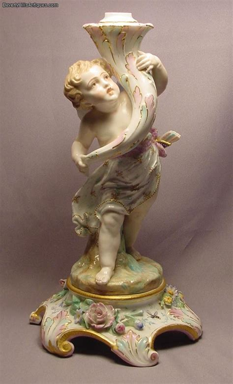 Cherub Antique by 1878 Exposition Large Porcelain Cherub For Sale